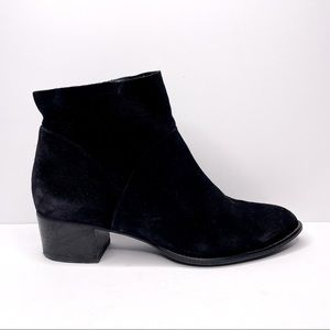 Paul Green Suede Black Nelly Ankle Bootie